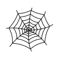 Spider web silhouette hanging for Halloween banner decorations. isolated on the background vector