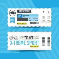 X-Treme Sport Ticket Card. Vector illustration