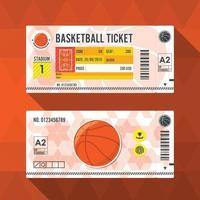 Basketball ticket card modern element design. Vector illustration