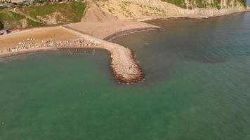 Aerial shot of the shore video