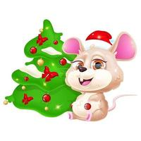 Cute rat kawaii cartoon vector character