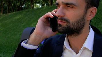 portrait of an attractive businessman video