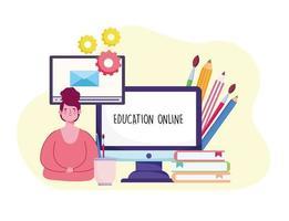 online education tutorials vector