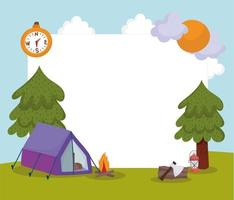 camping tourism card vector