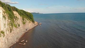 Coastal Cliff Sea Swimmers video