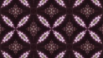 lazo de luz de caleidoscopio de tres colores verde y rosa video