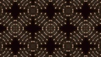 Kaléidoscope de fleurs à trois clignotements à quatre côtés video