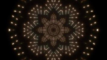 étaler des formes de fleurs kaléidoscope de lumière video