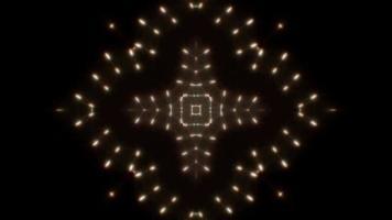 kaléidoscope en forme de croix clignotante video