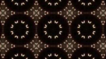 Kaléidoscope de points lumineux de cercle brillant video