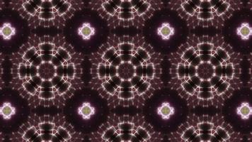 lazo de caleidoscopio de tres formas circulares de color verde y rosa video