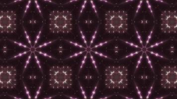 tres bucles de caleidoscopio de color verde y rosa video