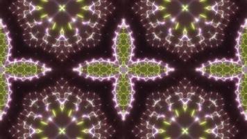 Caleidoscopio de luces de color verde y rosa parpadeante video