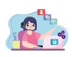 freelance remote work vector