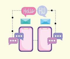 smartphones email message vector