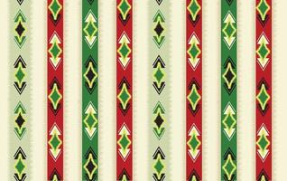 Abstract ethnic ikat seamless pattern. Geometric ornamental stripy print. Wallpaper tribal decor. Traditional  striped orient background. Ethnic stripe motif for wrapping, wallpaper, fabric, textile, embroidery vector