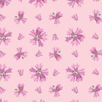 Floral seamless pattern. Flower bluebell meadow ornamental texture. Wildflower summer ornamental background. vector