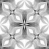 Abstract floral asian seamless pattern. Arabic line ornament with geometric shapes. vector