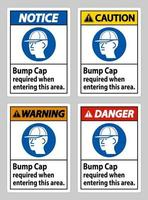 Bump Cap Required When Entering This Area vector