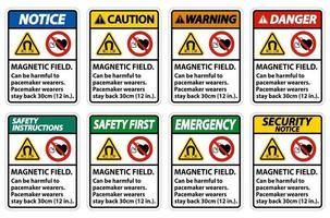 El campo magnético puede ser perjudicial para los usuarios de marcapasos. vector