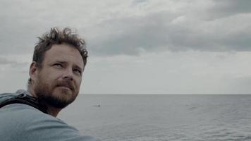 portrait of a man video