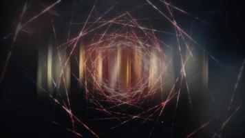 japansk arigato word loop filmisk futuristisk titel animation video