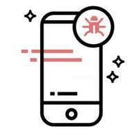 phone Bug icon vector design illustration