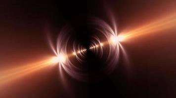 Glow golden star flare light tunnel rotation loop video