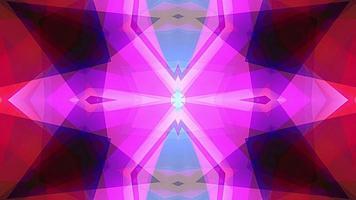 brilhante arco-íris cor mandala caleidoscópio transformações ilusões ópticas video