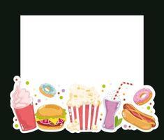 fast food restaurant vector