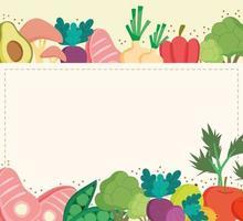 healthy food card vector