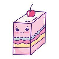 cute slice jelly vector