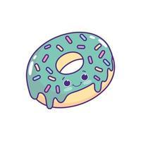 cute sweet donut vector