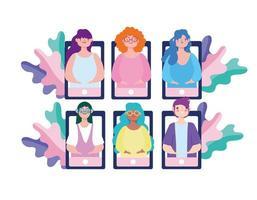 people online meeting vector