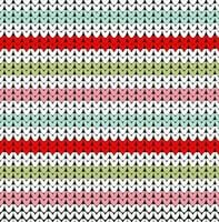 Seamless knitted color lines pattern vector illustration