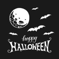 Happy halloween. Hand drawn creative calligraphy and brush pen lettering. Design for holiday greeting card and invitation, flyers, posters, banner halloween holiday vector