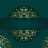 Luxury mandala pattern background with golden arabesque vector