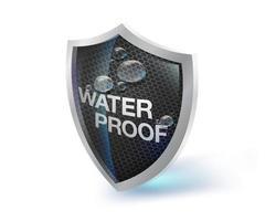 Waterproof shield icon vector