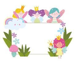 fairies cute fantasy vector