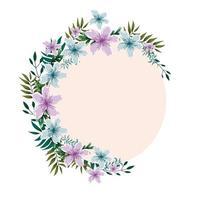 flower garland watercolor vector