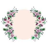 marco de círculo de flores vector
