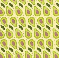 food pattern funny happy cartoon avocado fresh design vector