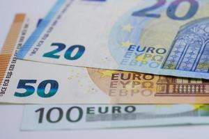 Euro banknote Banking Account, Investment Analytic research data economy, trading, Business company concept. photo