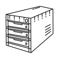 Server Icon. Doodle Hand Drawn or Outline Icon Style vector