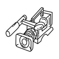 Video Camera News Icon. Doodle Hand Drawn or Outline Icon Style vector