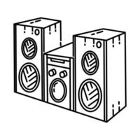 Speaker Icon. Doodle Hand Drawn or Outline Icon Style vector