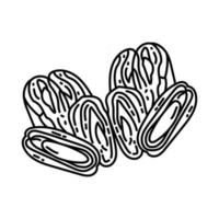 Kurma Icon. Doodle Hand Drawn or Outline Icon Style vector