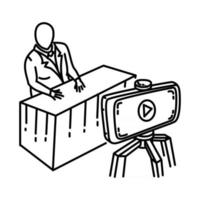 Shooting Icon. Doodle Hand Drawn or Outline Icon Style vector
