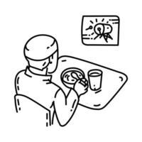 icono de takjil. Doodle dibujado a mano o estilo de icono de contorno vector