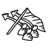 Business campaign hand drawn icon design, outline black, vector icon.